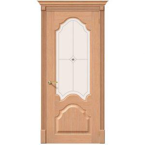 Дверь межкомнатная Афина Ф-01 Дуб со стеклом