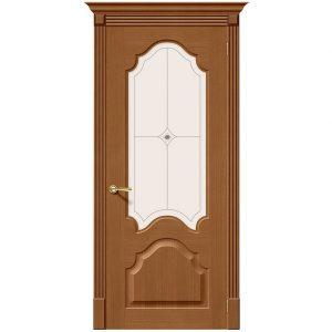 Дверь межкомнатная Афина Ф-11 Орех со стеклом
