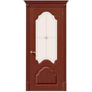 Дверь межкомнатная Афина Ф-15 Макоре со стеклом