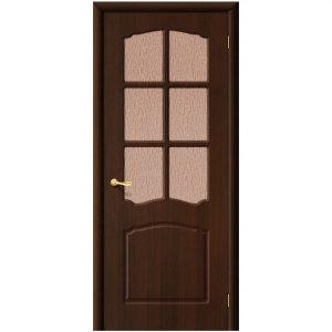 Дверь межкомнатная Альфа П-19 Венге со стеклом