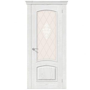 Дверь межкомнатная Амальфи Т-23 Жемчуг со стеклом