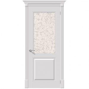 Межкомнатная дверь со стеклом эмаль Блюз К-23 Белый