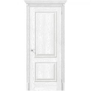 Белая межкомнатная дверь экошпон Классико-12 Silver Ash
