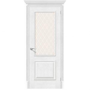 Белая межкомнатная дверь со стеклом Классико-13 (new) Royal Oak