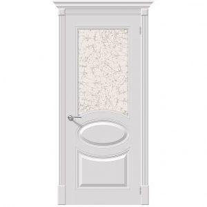 Межкомнатная дверь со стеклом эмаль Джаз К-23 Белый