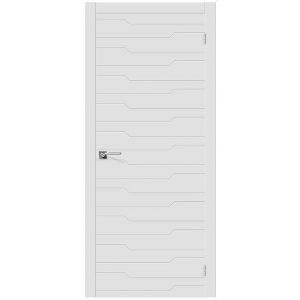 Межкомнатная дверь глухая эмаль Граффити-1 К-23 Белый