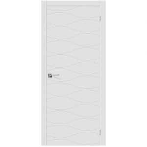 Межкомнатная дверь глухая эмаль Граффити-3 К-33 БелыйГраффити-3 К-33 Белый