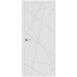 Межкомнатная дверь глухая эмаль Граффити-5 К-23 Белый