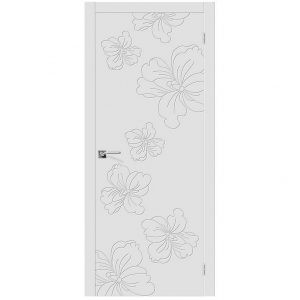 Межкомнатная глухая дверь эмаль Граффити-8 К-23 Белый