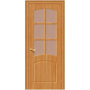 Дверь межкомнатная Кэролл П-18 МиланОрех со стеклом
