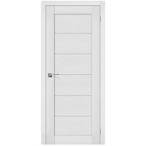 Белая межкомнатная дверь со стеклом экошпон Легно-21 Virgin