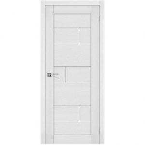Белая межкомнатная дверь экошпон Легно-38 Virgin