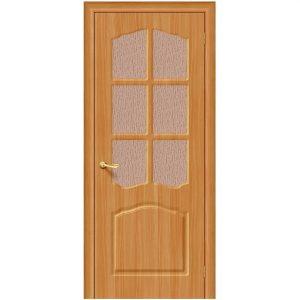 Дверь межкомнатная Лидия П-18 МиланОрех со стеклом
