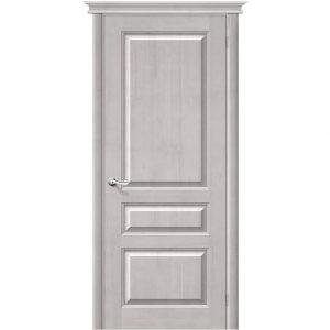 Межкомнатная дверь из массива сосны М5 Т-07 Белый Воск глухая