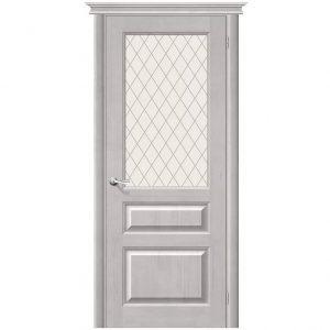 Дверь межкомнатная М5 Т-07 Белый Воск стекло