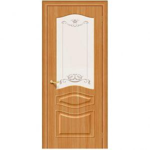 Дверь межкомнатная Модена П-18 МиланОрех белое художественное