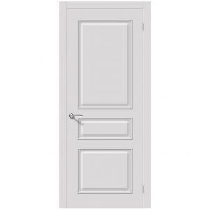 Белая межкомнатная глухая дверь эмаль Опера К-33 Белый