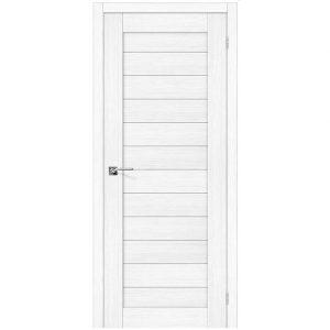 Белая межкомнатная дверь со стеклом Порта-21 Snow Veralinga