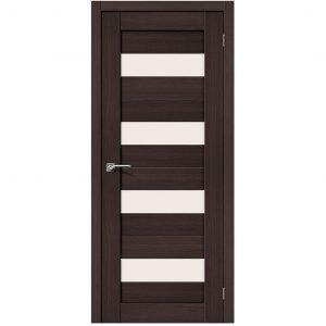 Межкомнатная дверь со стеклом Профиль Дорс Порта-23 Wenge Veralinga
