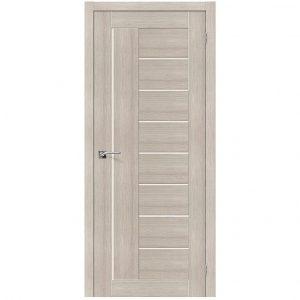 Межкомнатная дверь со стеклом Порта-29 Cappuccino Veralinga/Magic Fog