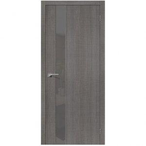Дверь межкомнатная Порта-51 Smoke Grey Crosscut