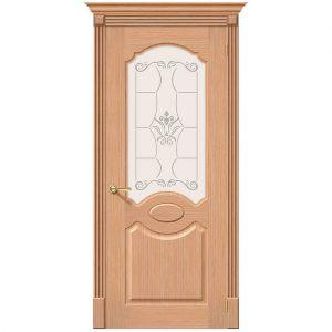 Дверь межкомнатная Селена Ф-01 Дуб со стеклом