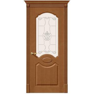 Дверь межкомнатная Селена Ф-11 Орех со стеклом