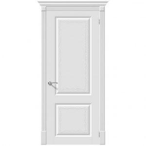 Белая межкомнатная дверь глухая Скинни-12 Аrt Whitey