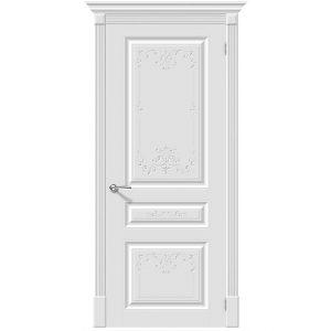 Белая межкомнатная дверь глухая эмаль Скинни-14 Аrt Whitey