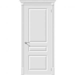 Белая межкомнатная дверь эмаль Браво Скинни-14 Whitey