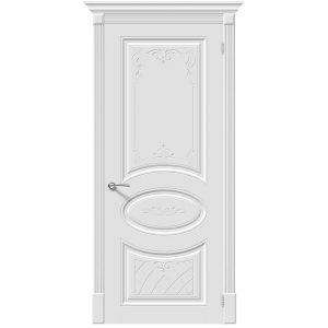 Белая межкомнатная дверь эмаль Скинни-20 Art Whitey