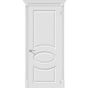 Белая межкомнатная дверь глухая эмаль Скинни-20 Whitey