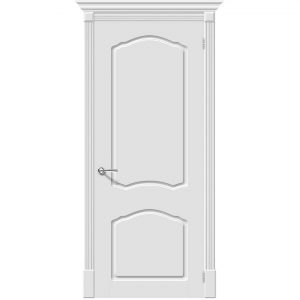 Белая межкомнатная дверь эмаль Скинни-30 Whitey