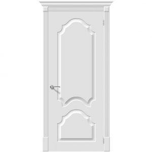 Белая межкомнатная дверь эмаль Скинни-32 Whitey