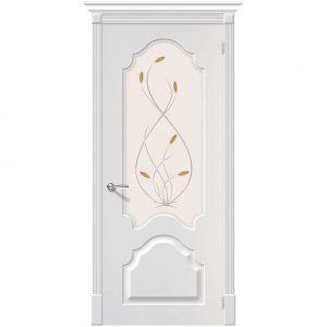 Межкомнатная дверь ПВХ со стеклом Браво Скинни-33 П-24 Белый