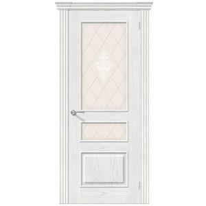 Дверь межкомнатная Сорренто Т-23 Жемчуг со стеклом