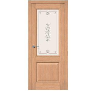 Дверь межкомнатная Статус-13 Ф-01 Дуб со стеклом