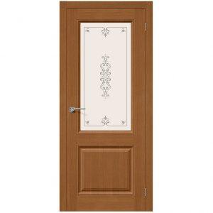 Дверь межкомнатная Статус-13 Ф-11 Орех со стеклом