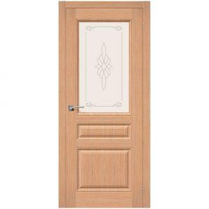 Дверь межкомнатная Статус-15 Ф-01 Дуб со стеклом