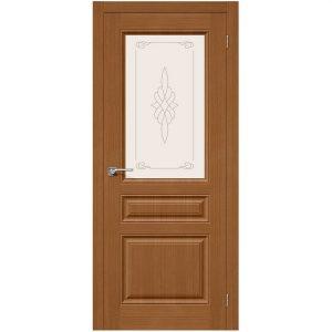 Дверь межкомнатная Статус-15 Ф-11 Орех со стеклом