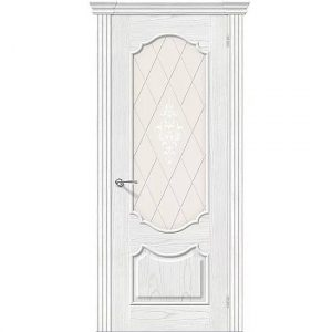 Дверь межкомнатная Париж Т-23 Жемчуг со стеклом