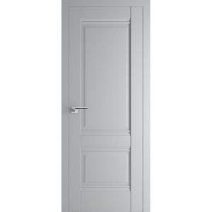 Серая межкомнатная матовая дверь 1U Манхеттен глухая