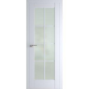 Межкомнатная остекленная белая дверь Профиль Дорс 101U Аляска