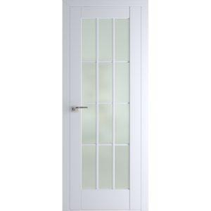 Белая межкомнатная дверь со стеклом Профиль Дорс 102U Аляска