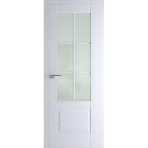 Белые межкомнатные двери со стеклом Профиль Дорс 103U Аляска