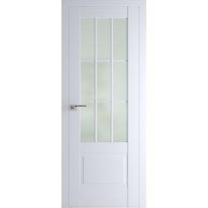 Белая матовая межкомнатная дверь со стеклом Профиль Дорс 104U Аляска
