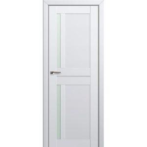 Белая матовая межкомнатная дверь со стеклом Профиль Дорс 19U Аляска