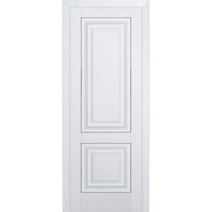 Белая межкомнатная дверь без стекла Профиль Дорс 27U Аляска