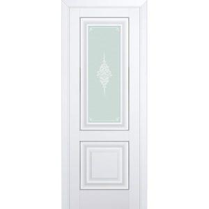 Белая матовая межкомнатная дверь со стеклом Профиль Дорс 28U Аляска