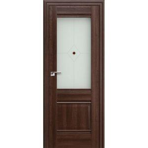 Дверь межкомнатная 2Х Орех Сиена